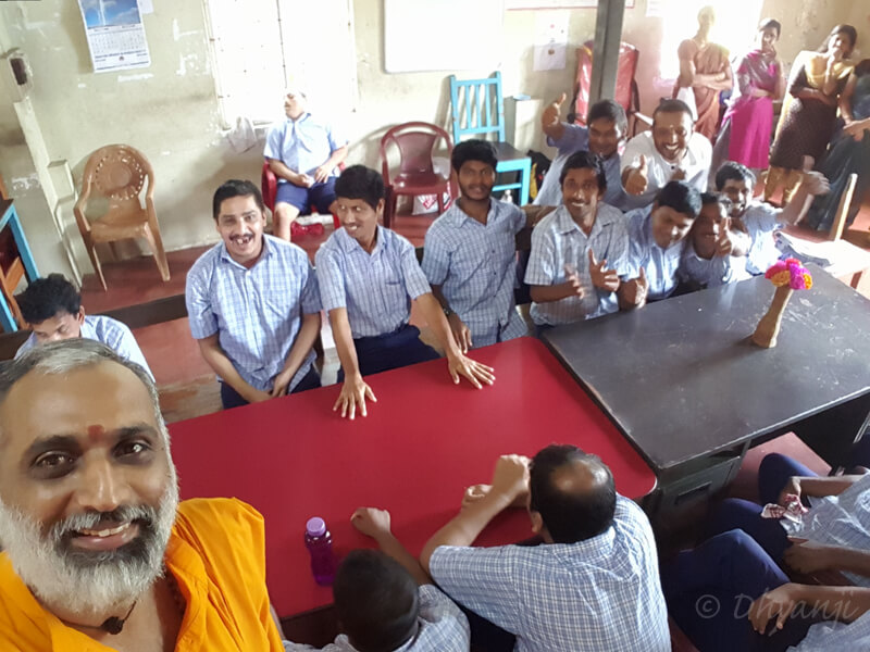 with the differently abled